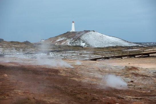 Reykjanesvítí, the oldest lighthouse in Iceland