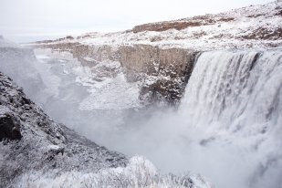 snow in the snowy dettifoss by art bicnick