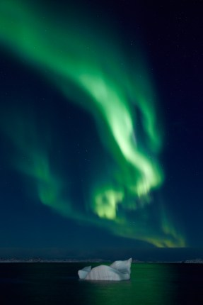 Aurora off the coast of Nuuk.