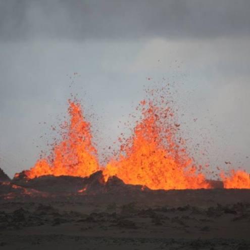 Holuhraun Volcano Erupts Again