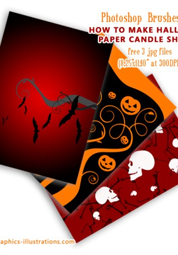 How to make paper Halloween candle shades