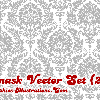 Damask Vector Illustrations Pack (22) – And Some Free Damask Vectors Too