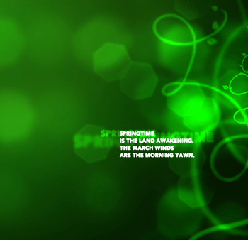The Sounds of Spring, March 2011 Desktop Wallpaper Download