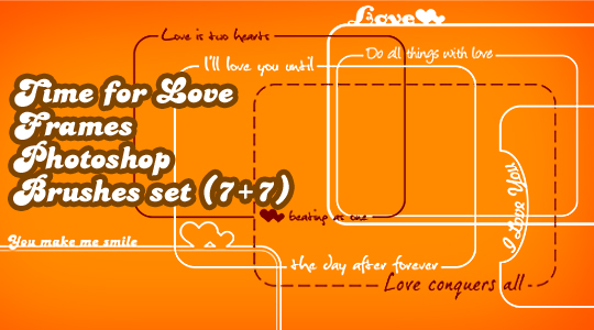 Frames Time For Love Photoshop brushes