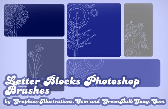 Letter Blocks Photoshop brushes
