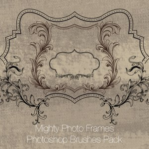 Mighty Photo Frames Photoshop Brushes Pack