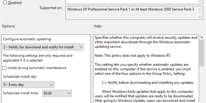 Information on Windows 10 Anniversary Update and Automatic Updates