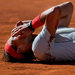 Rafael Nadal celebrated his victory over Stanislas Wawrinka in the final of the Madrid Open.