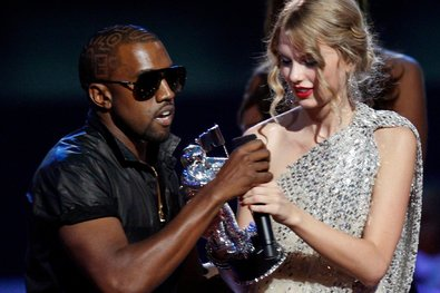 Mr. West interrupting Taylor Swift's appearance at the MTV Video Music Awards at Madison Square Garden in 2009.