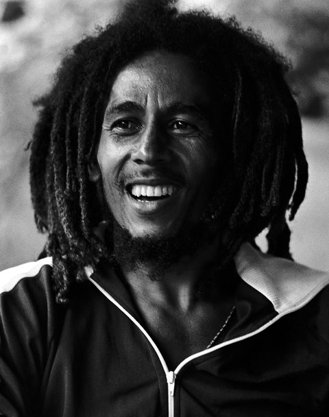 """One of Ms. Simon's best-known images of Marley, used for his 1978 """"Kaya"""" album cover."""
