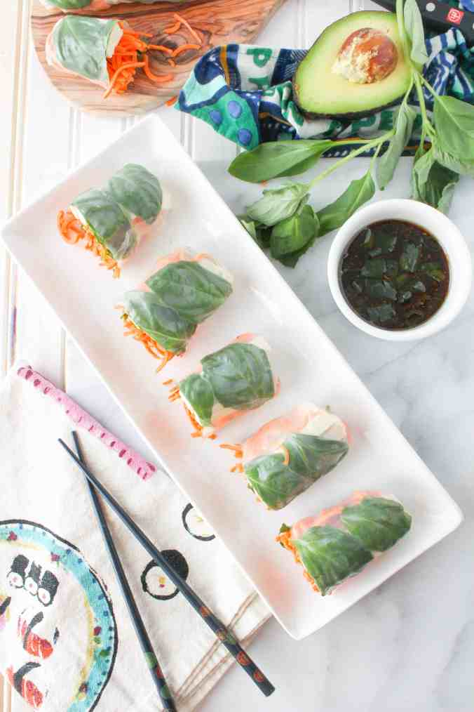 Sweet Potato Spring Rolls with Sesame Ginger Dipping Sauce from The ...
