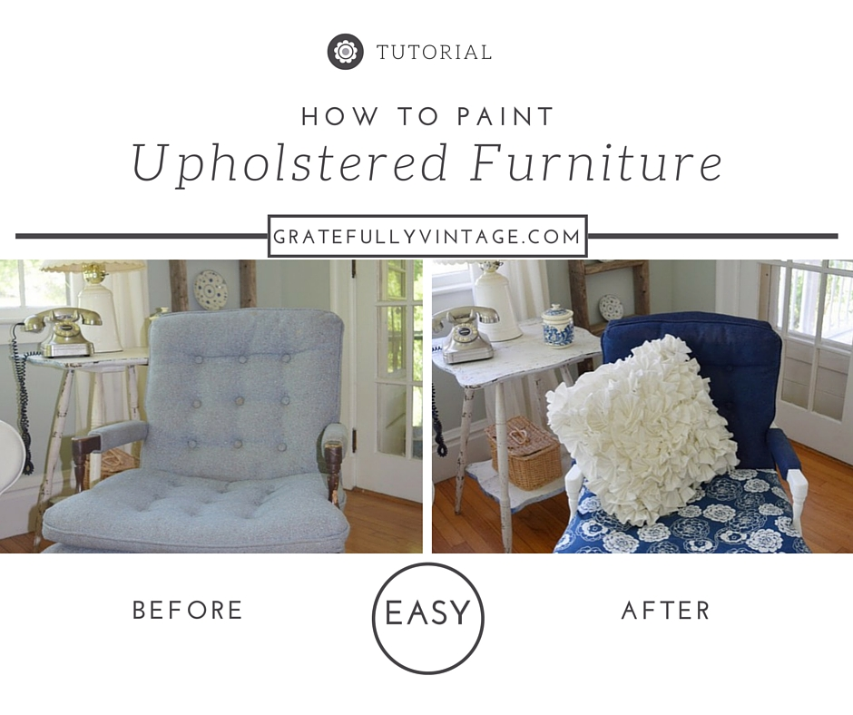 How to Paint  Upholstered furniture – Thrifted & Re-lifted Round 2