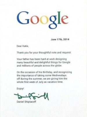 Google's respond to Katie