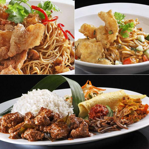 Har Zi Meen, Fish curry laksa, Nasi lemak with beef rendang at Ujong