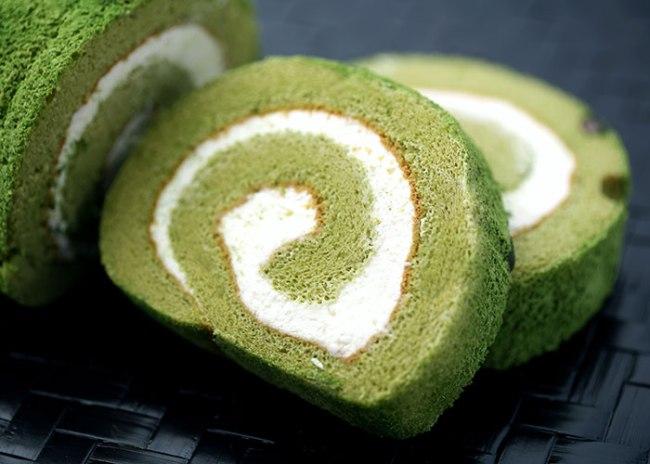 Matcha Roll Cake from Rakuten Japan gourmet festival