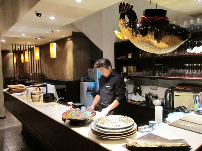 FUKU restaurant's Executive Chef Koji-san