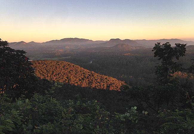 Sun rise at Horton Plains