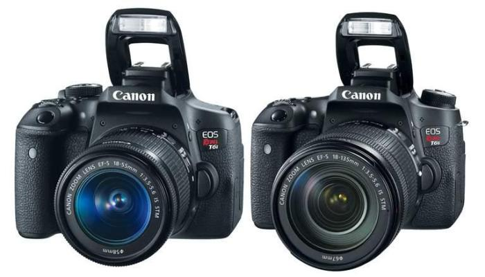 Canon's new Rebel T6i and T6s (photo: Google Images)