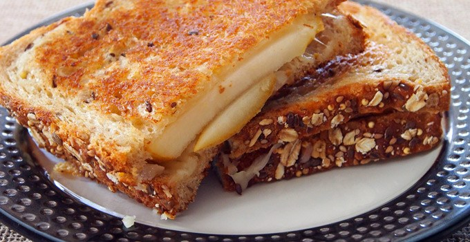 Pear and Fontina Grilled Cheese