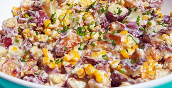 Warm Potato Salad with Bacon and Corn
