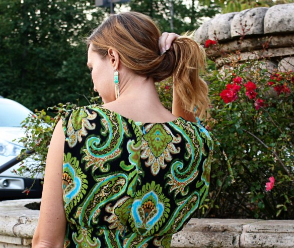 peacock dress back