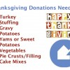 Thanksgiving Donations Needed