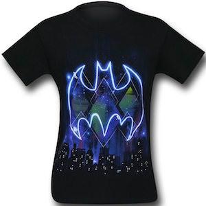 Batman Symbol And Skyline T-Shirt