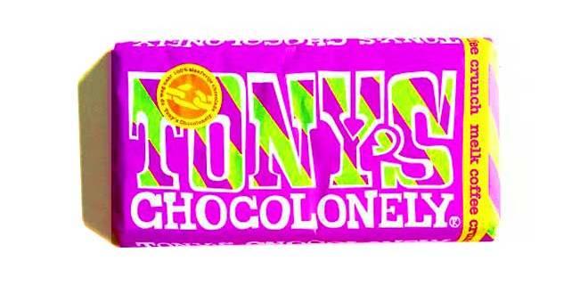 Tony's Chocolonely slavery free chocolate new flavor milk coffee crunch open