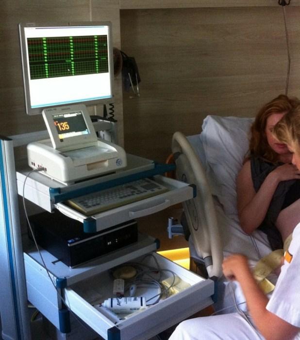 Aan de CTG-scan.