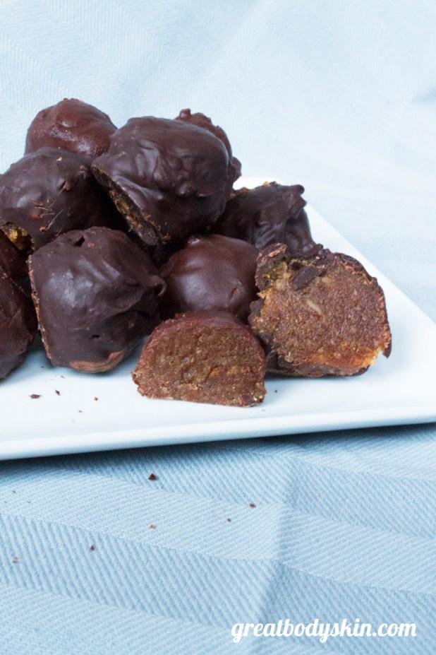 Healthified Chocolate Marzipan Bonbons | Great Body & Skin