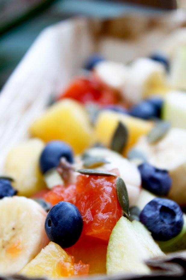 Gezonde tropische fruitsalade