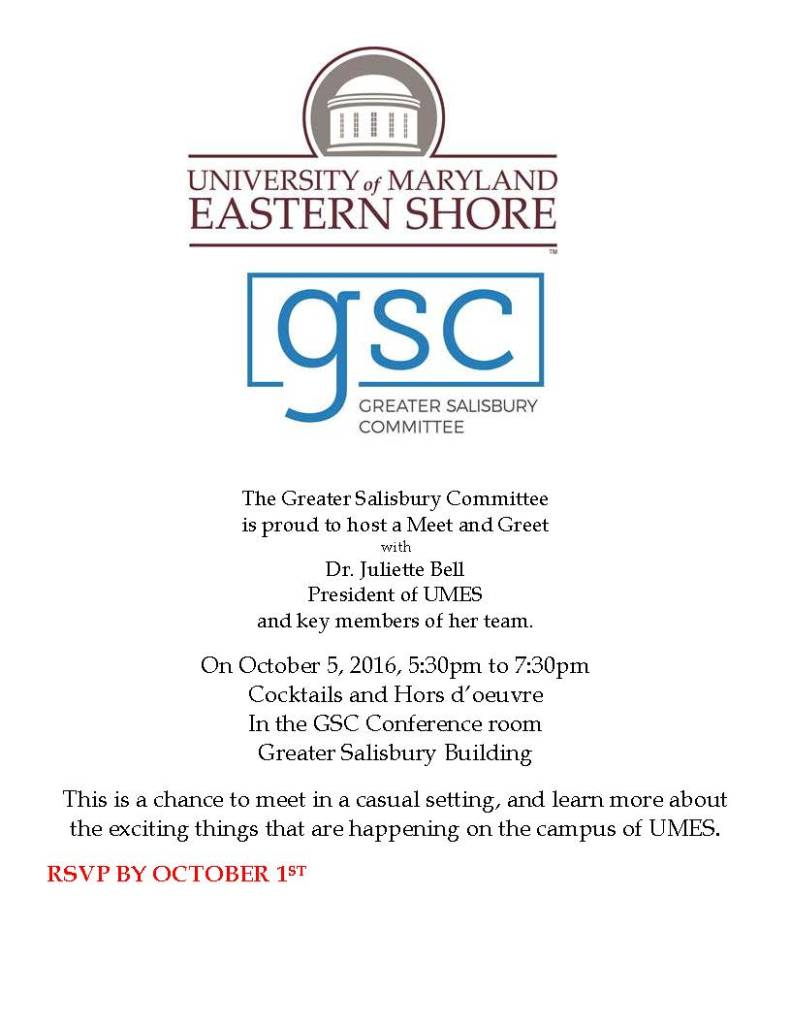 GSC Welcomes UMES