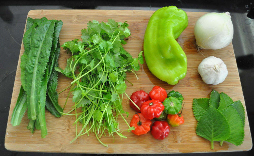 Sofrito Mise en Place Ingredients