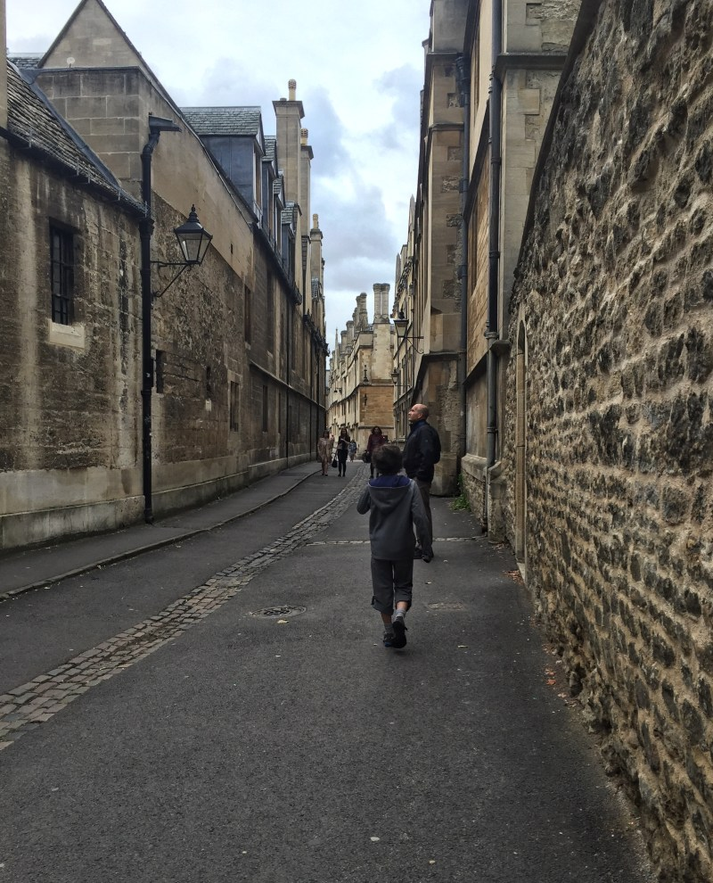 Admiring the history and architecture at Oxford University