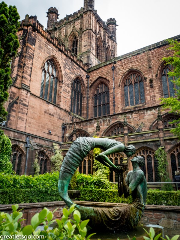 Outside of Chester Cathedral