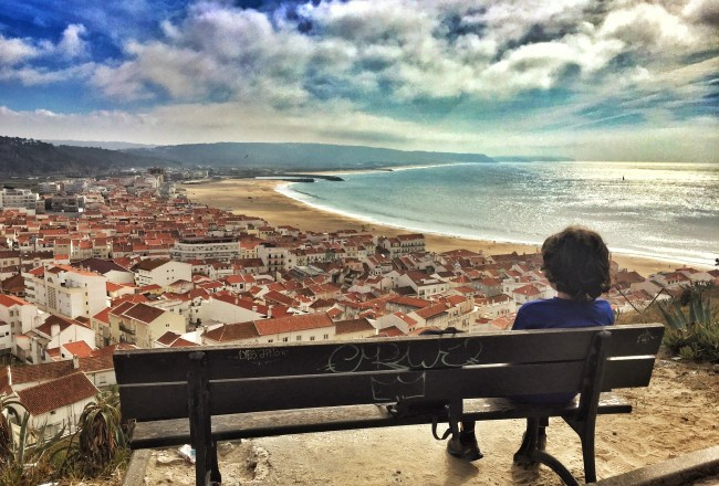 Nazare lookout beach Portugal