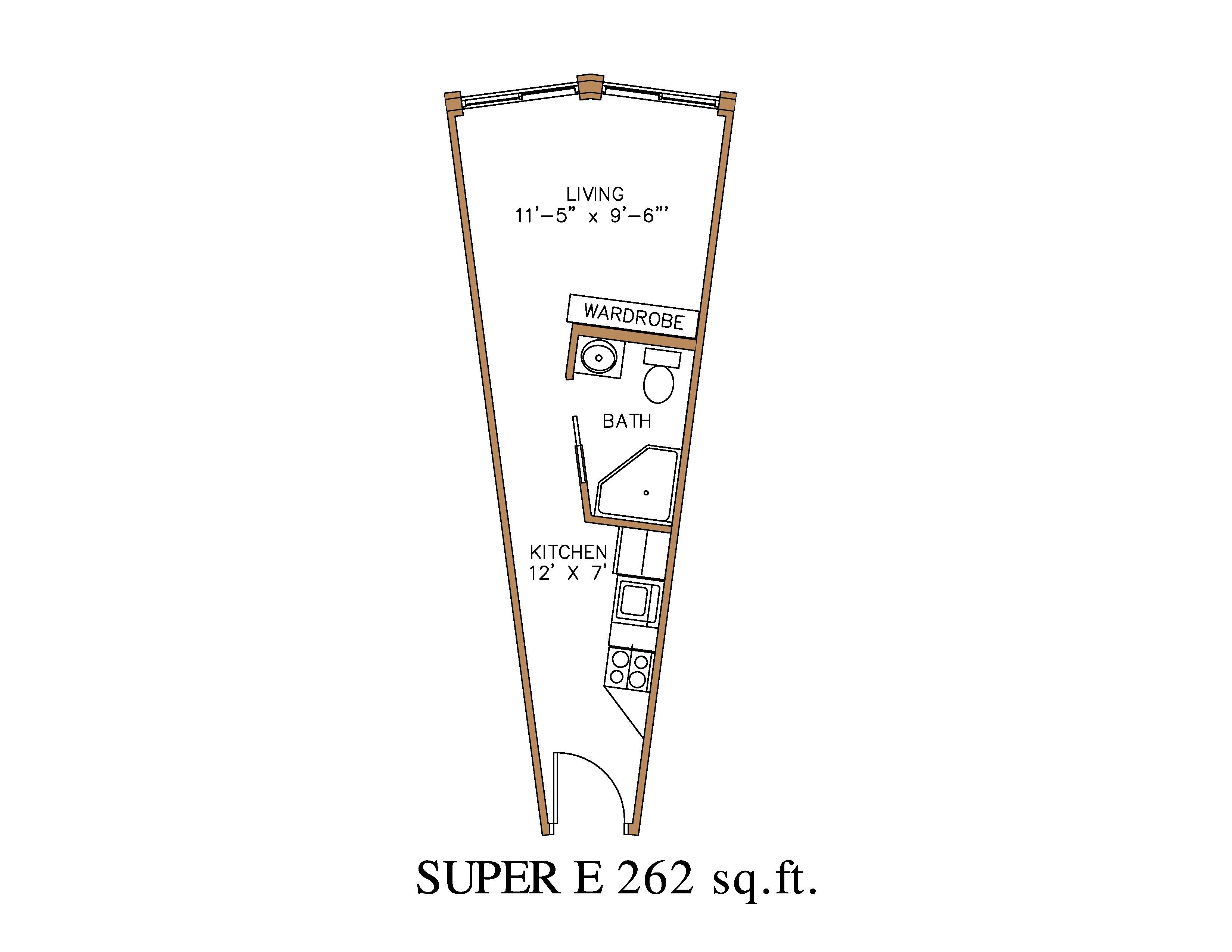 Fullsize Of Efficiency Apartment Floor Plan