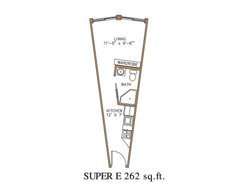 Medium Of Efficiency Apartment Floor Plan