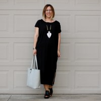 Outfit | Oak Dress + Everlane Petra Gesso Tote