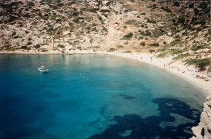 beautiful waters in Amorgos