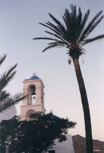 the church in Hora in Ios