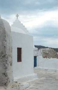 church in Hora in Mykonos