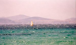 Wind surfing in Naxos