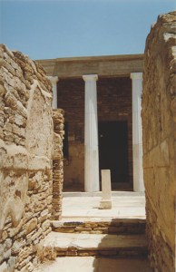 entrance to a mansion in Delos