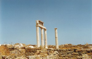 temple ruins in Delos