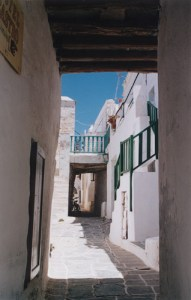 the alleys in Hora, Folegandros