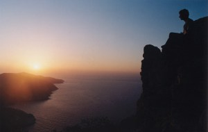 sunset in Folegandros