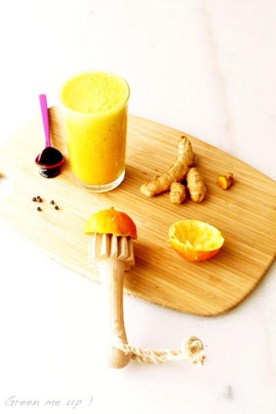 boisson or curcuma détox citron