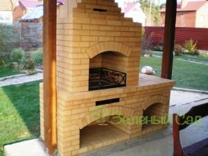 Садовое барбекю, печь