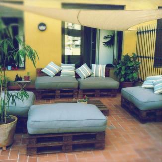Μπαλκόνι και παλέτες